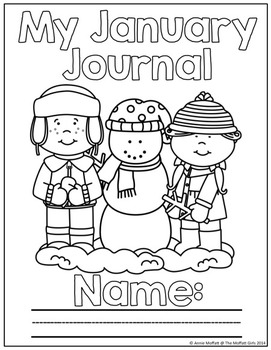 January NO PREP Journal Prompts for Beginning Writers