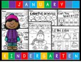 January NO PREP Kindergarten Lang. Arts Pack - Common Core