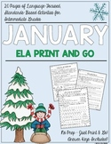 January NO PREP Language Print and Go