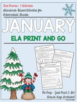 January NO PREP Language Print and Go Freebie