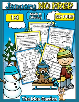 January NO PREP - Math & Literacy (First)