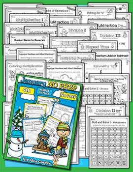 January NO PREP - Math & Literacy (Fourth)