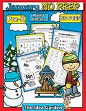 January NO PREP - Math & Literacy (Pre-K)