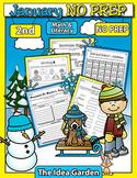 January NO PREP - Math & Literacy (Second)