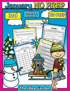 January NO PREP - Math & Literacy (Third)