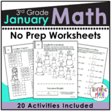 January NO PREP Math Packet - 3rd Grade