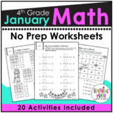 January NO PREP Math Packet - 4th Grade