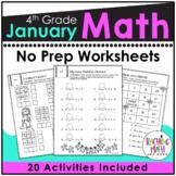 January NO PREP Math Packet - 4th Grade