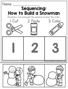 January NO PREP Packet (Preschool)