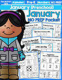 January NO PREP Packet (Preschool)