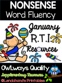Winter Nonsense Word Fluency R.T.I. Assessment Pack for January