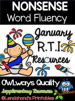 Winter Nonsense Word Fluency R.T.I. Assessment Pack for January