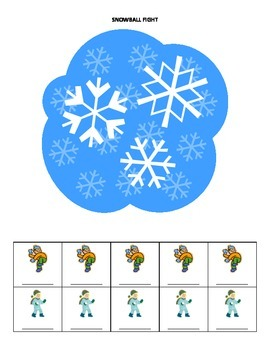 January Name Game for Articulation and Language:  Snowball Fight