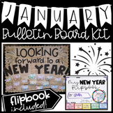 January New Year Bulletin Board Kit with 2019 New Year Flipbook