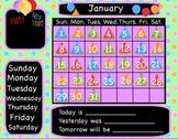 January New Year Interactive Flipchart Calendar for Promethean Board