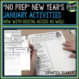 "January ""New Year"" back to school activities NO PREP"