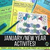 "January No Prep Activities: ""Happy New Year"" activities |"