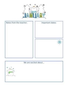January Newsletter -Editable