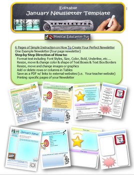 January Newsletter Editable Template
