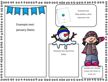 January Newsletter Template FREEBIE