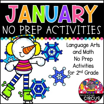 January No Prep Activities (2nd Grade)