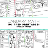 January NO PREP Math Printables