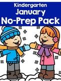 January No-Prep Pack for Kindergarten