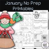 January No Prep Printables (3rd grade)