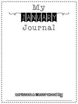 January No Prep Writing Journal for Elementary Writers