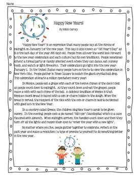 January Non Fiction & Fiction Paired Passages