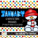 January Nonfiction Reading Comprehension Passages for 2nd and 3rd grade