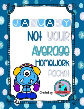 January Not Your Average Homework Packet
