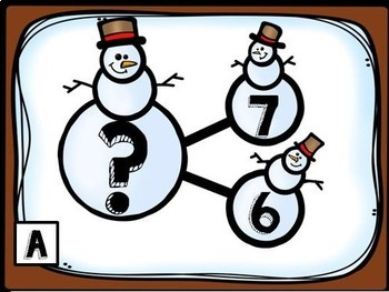 Snowman Number Bonds- Write the Room