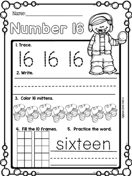 January Number Printables