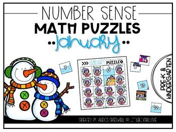 January Number Sense Math Puzzles