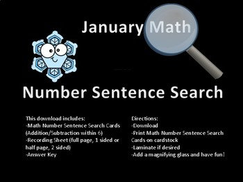 January Number Sentence Search
