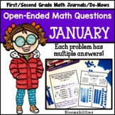 January Open-Ended Math Questions for Journals or Do-Nows