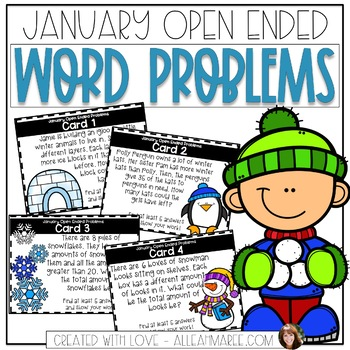 January Open-Ended Word Problems