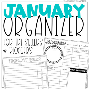 January Organizer for TPT Sellers and Bloggers