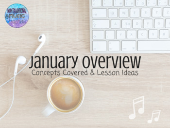 January Overview for the K-5 Music Room