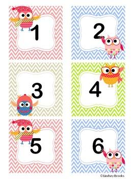 January Owl Calendar Cards and Headers