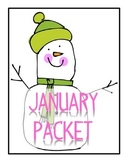 January Packet - Word Search, Word Skills, Diamonte Poetry and more!  Super fun!