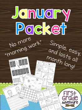 January Packet {First Grade Morning Work for ALL of January}