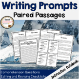 Informational Writing Prompts with Paired Passages and Editing Checklists