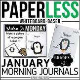 January Paperless 1st & 2nd Grade Morning Work {Whiteboard