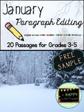 January Paragraph Editing Freebie for Grades 3-5