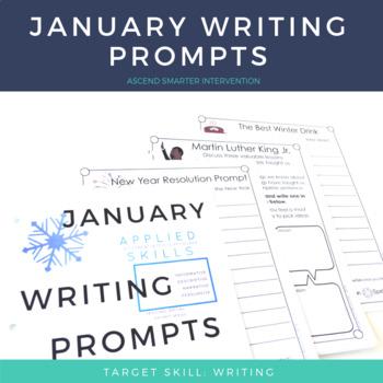 January Paragraph Writing - Graphic Organization Strategies