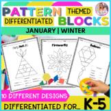 January Pattern Block Puzzles