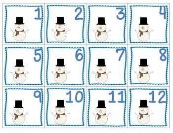January Patterning Calendar Cards & Header (4 Sets!)