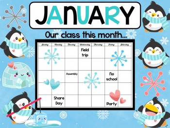 January Penguins Bulletin Board Bebe Boards Class Decor Set